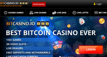 Bitcasino.io Home Page