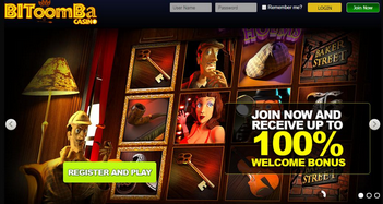 Bitoomba Casino Home Page