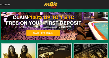 mBit Casino Home Page