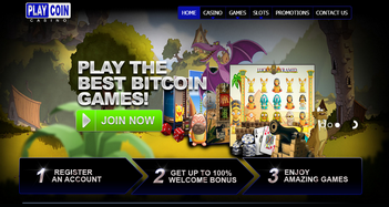 Play Coin Casino Home Page