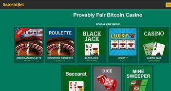 Satoshi Bet Casino Home Page