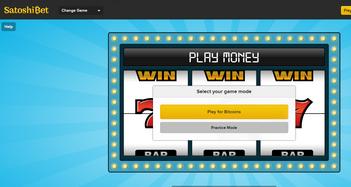 SatoshiBet Casino Home Page