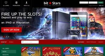 Bit Stars Casino Home Page