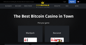 Coin Royale Casino Home Page