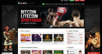 Betcoin Casino Home Page