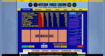 Bitcoin Video Casino Video Poker