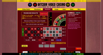 Bitcoin Video Casino Home Page
