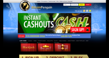 Bitcoin Penguin Casino Home