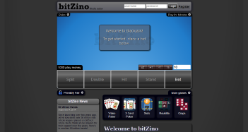 Bitzino Casino Home Page