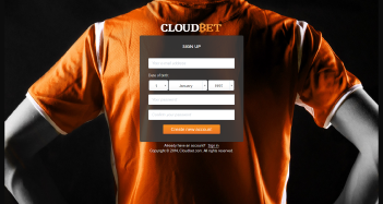 Cloudbet Casino Sign Up Page