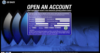 StrikeSapphire Casino Sign Up Page