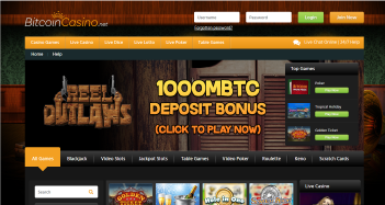 Bitcoin Casino Home Page