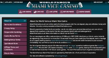 Miami Vice Casino Screenshot