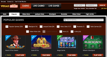 Vegas Casino Popular Games